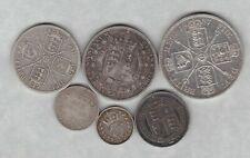 More details for 1887 victoria jubilee head six coin silver set in fine or better condition