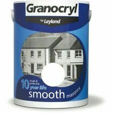 Granocryl Smooth Masonry Brilliant White 5L Exterior TOUGH + PROTECTIVE