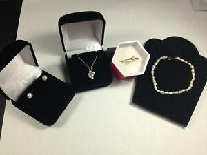 Pearl set; bracelet,ring,pendant, ears all 14K  yellow gold, #15285