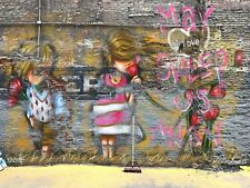 """19"""" x 25"""" canvas street art limited edition print by andy baker and soulsomeness"""