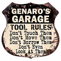 PPWM1193 LUIGI/'S MAN CAVE RULES Chic Sign man cave Decor Funny Gift