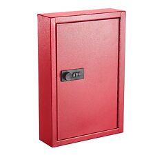 AdirOffice Secured 40 Key Cabinet with Combination Lock - Holds 40 Keys RED