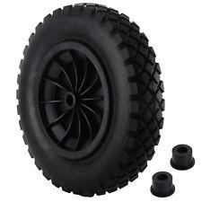 """1 PACK 14"""" PU Wheelbarrow BLACK Solid Wheel Trolley Tyre Light Weight Foam"""