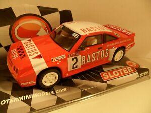 SLOTER SLOT CAR ref 9506 OPEL MANTA 400 No2 TEAM BASTOS