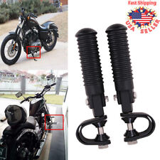 Motorcycle Black 1''-1.25'& #039; Engine Crash Bar Foot Pegs with U-clamp For Harley(Fits: Mastiff)