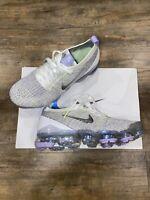 Nike Air Vapormax Flyknit 3 Women's Sz 8.5 White/Purple AJ6910-102 Running Shoe