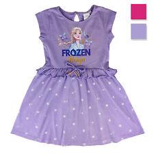 Abito bambina Disney Frozen maniche corte vestitino in cotone stampato 2823