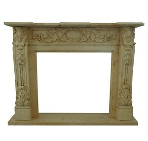 Fireplace Style Empire Classic IN Travertine Stone Marble Old