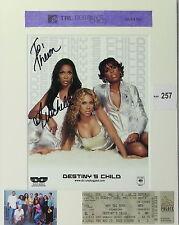 Michelle Williams Destiny's Child Original Autograph Photograph, MTV TRL Ticket