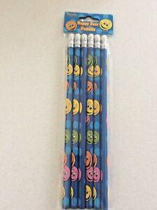 Happy Face 6 pce Pencil Set