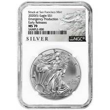Presale - 2020 (S) $1 American Silver Eagle NGC MS70 Emergency Production ALS ER