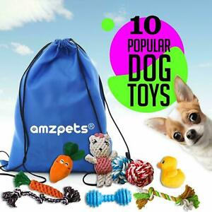 AMZpets 10 Most Popular Dog Toys for Small Dogs & Puppies Complete Toy Set New!