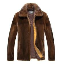 Mens Faux Fur Coat Furry Warm Thick Casual Winter Short Jacket Outwear Parka hot