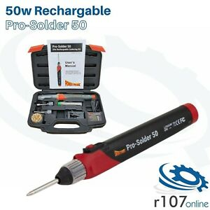 Power Probe 50w Cordless Rechargeable Soldering Iron, PRO-SOLDER 50