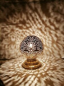 Moroccan spherical night lights oriental Table lamp Lampshade Handmade brass