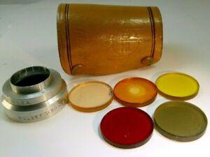 Bolsey Lens Filter Kit series 5 V drop in 30mm OD yellow red skylight Polar hood