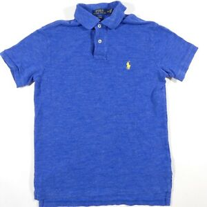 Ralph Lauren Polo Shirt Mens Small Blue Short Sleeve Golfer Rugby Pony  Collared