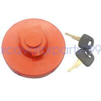 Locking Fuel Tank Cap with 2 Keys For Hitachi EX200-2 EX120-2 Excavator Parts