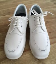 P. W. MINOR Women's Walking Work White Comfort Extra Depth Oxford Shoes Sz 8