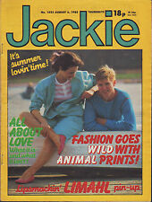 Jackie Magazine 6 August 1983 Issue 1022  Limahl  Clare Grogan of Altered Images
