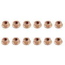 For BMW E10 E24 E30 E31 E32 E34 Set of 12 Copper Lock Nut 8 mm- Exhaust OEM
