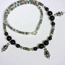 Natürliche Echtschmuck-Halsketten & -Anhänger aus Sterlingsilber Labradorit