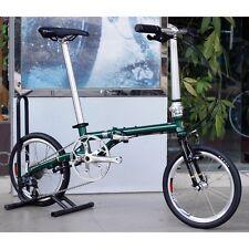 "Fnhon Chrome Steel Folding Bike 16""  Mini velo Urban Commuter Bicycle 9s V Brake"