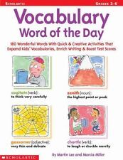 Vocabulary Word of the Day: 180 Wonderful Words With Quick & Creative-ExLibrary