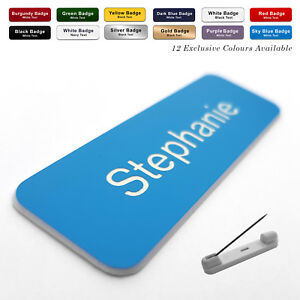 PIN Engraved Personalised Staff Name Badges Business Corporate Shop Pub Work