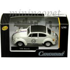 CARARAMA 41184 HERBIE VW VOLKSWAGEN BEETLE RACER #53 1/43 CREAM with BLACK TOP