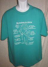 Vintage Anatomy of a Stitcher t-shirt size adult Xl