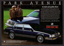 1989 BUICK Park Avenue Original Print AD - Black car with lovers photo, 4-door