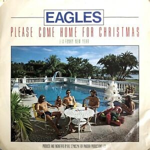 """EAGLES PLEASE COME HOME FOR CHRISTMAS 1978 7"""" SINGLE VINYL RECORD PLAY TESTED"""