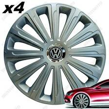 "LOT DE 4 ENJOLIVEURS ENJOLIVEUR BOULONS 14"" TREND ARGENT VOLKSWAGEN POLO (9N)"