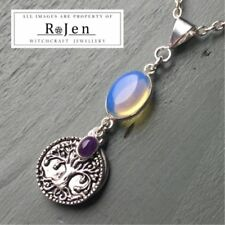 Silver Plated Simulated Amethyst Fine Necklaces & Pendants
