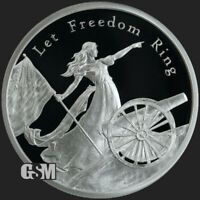 2020 - 1 oz .999 Fine Silver Let Freedom Ring MiniMintage Proof Silver Round