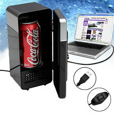 Black Mini USB PC Fridge Freezer Refrigerator Beverage Drink Can Warmer Cooler