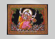 Radha Krishna Indio Colgando Algodón Pared Tapiz Poster Tamaño Multicolor Lanzar