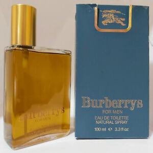 ❤️BURBERRYS FOR MEN(1981)EAU DE TOILETTE,BURBERRY,SPRAY,3.4oz 100ml,hard to find