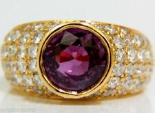 Anelli di lusso con gemme in oro giallo con pietra principale zaffiro diamante