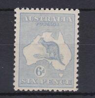 K788) Australia 1921 6d Pale Ultramarine Kangaroo Die IIB, 3rd wmk. ACSC 20C.