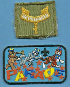 Vintage - Boy Scout patch - Be Prepared with current Parade Badge (#54)