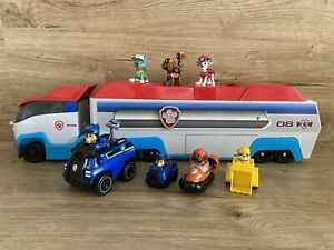 Paw Patrol Paw Patroller Truck With Extra Pups And Vehicles Chase Marshall Zuma