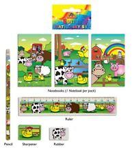 Farm Animals 5-Piece Stationery Set