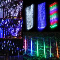 50cm 320 LED Lights Meteor Shower Rain 8 Tube Xmas Snowfall Tree Outdoor Light K
