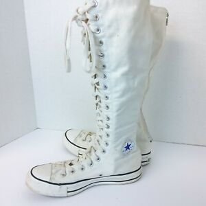 Converse All Star Chuck Taylor Tall Knee High Sneakers Shoes Women's Sz 9 white