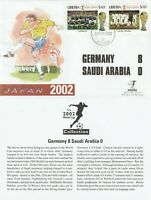 LIBERIA 1 JUNE 2002 WORLD CUP GERMANY 8 S ARABIA 0 MERCURY LE FIRST DAY COVER