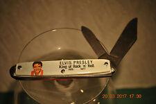 Vintage 1977 ELVIS PRESLEY Pocket Knife King of Rock n' Roll New Old Stock USA