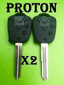 2 x Proton 2 Button Remote control Key Blank Case shell Wira 415 416 Persona