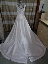 (4)Edles Damen Braut Standesamt Abend Kleid GR: GR: 38